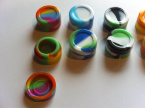 100 New 5 ml Silicone conteneurs quotidien de Stockage Non-Stick FDA Grade Jar Free Sh