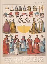 Los clérigos Tracht 11. - 16. siglo obispo cardenal Pabst mostrarían de 1882