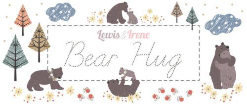 """Lewis et Irene /""""OURS CALIN/"""" Bouleau sur Ocre 100/% coton courtepointe//artisanat"""