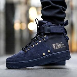 Details about Nike Air Force 1 SF AF1 Mid GS Obsidian Navy Blue Youth Boots SHOES AJ0424-400