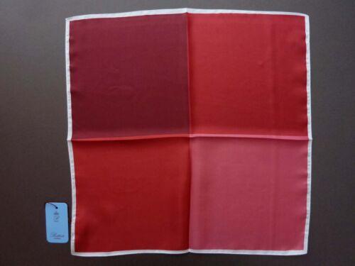 $155 NEW BATTISTI NAPOLI Cherry Red Quadrant Silk Pochette Pocket Square ITALY