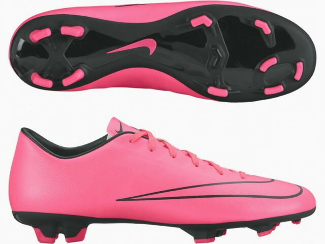 4fc194c364 Nike Mercurial Victory V Junior Kids Studded FG Firm Ground Football Boots  Pink