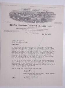 Details about 1930 Lamson Goodnow Northwestern Cooperage Lumber Co  Gladstone MI Ephemera L906E