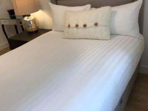 100/% Hôtel De Luxe Qualité Coton Satin à rayures housse de couette