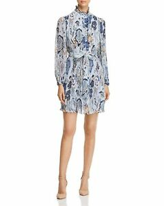 ac2cd4d805 Tory Burch Deneuve Dress 2018 Floral Blue Happy Times 12 XL NWT ...