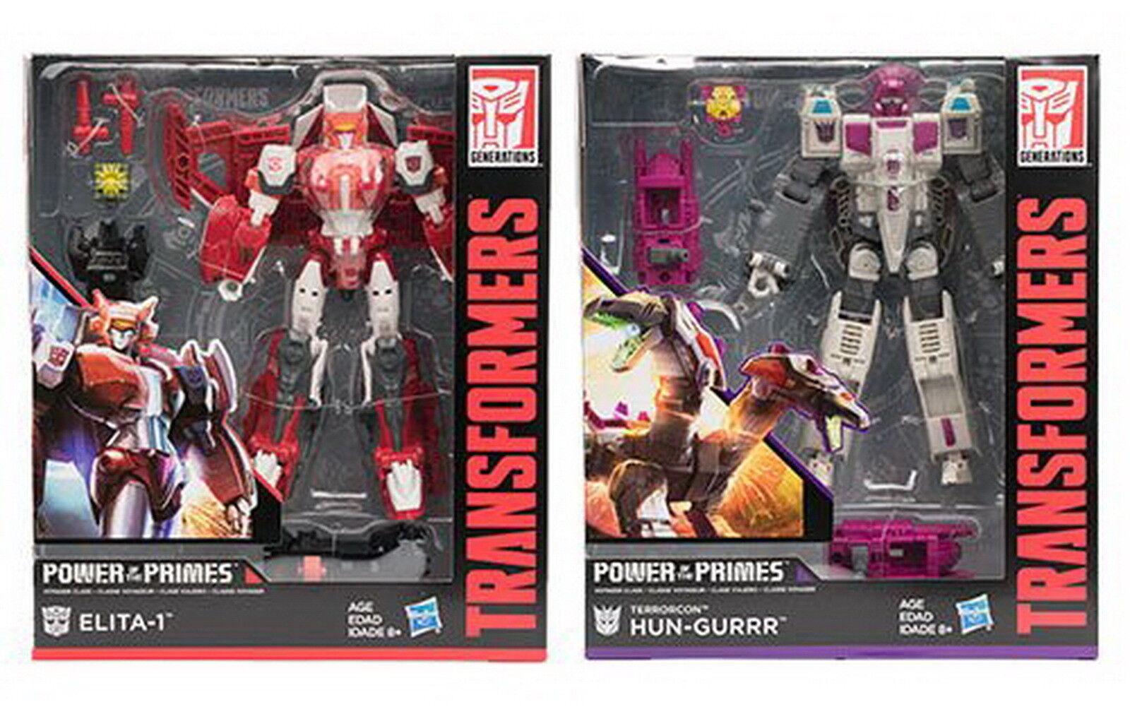 Transformers Hasbro Power of  the primes POTP W2 Voyager ensemble de Elita - 1 Hun-gurrr  marque