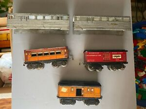 American-Flyer-Passenger-Freight-Car-Misc-Lot-of-5