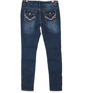 Rue21-Womens-Junior-Jeans-Mid-Rise-Skinny-9-10-Long-X-31-Stretch-Flap-Pocket