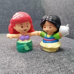 2x-Fisher-Price-Little-People-Disney-Princess-Mermaid-amp-Mulan-2-034-Figure-Toy-Gift