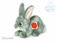 Crouching Grey Rabbit  Plush Soft Toy Bunny by Teddy Hermann Collection.93701