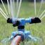 360° Rasen Wasser Rotierender Garten Sprinkler 3 Düse Gartenschlauch Bewässerung