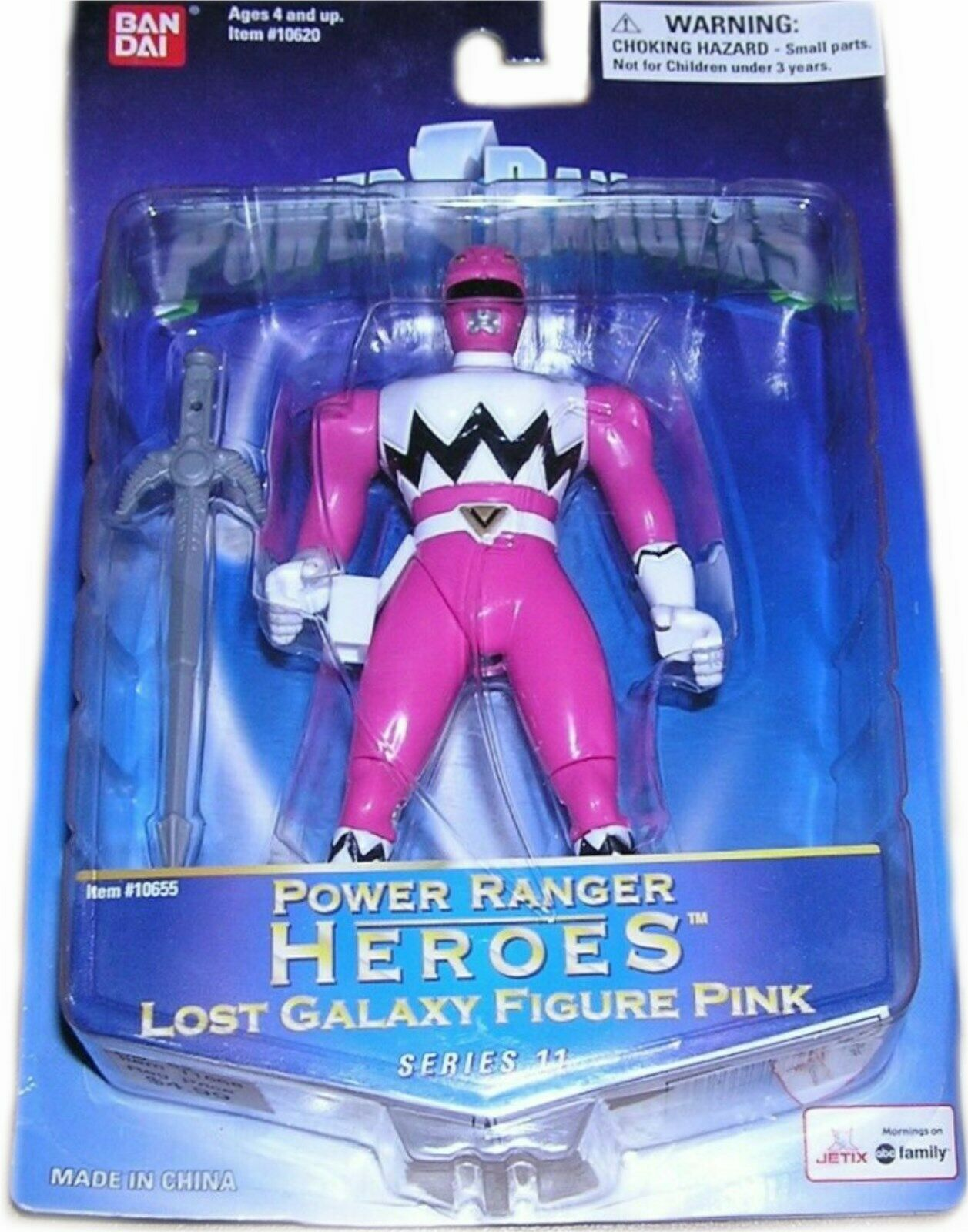 Power Rangers Lost Galaxy rosa Heroes Ranger Series 11 New Factory Sealed 2004