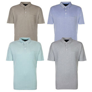 Marks-amp-Spencer-Mens-Short-Sleeve-Button-Collar-Pure-Cotton-M-amp-S-Polo-Shirt-Top