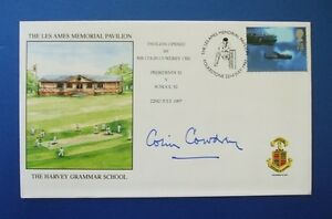 1997 THE LES AMES MEMORIAL PAVILLION COVER SIGNED BY COLIN COWDREY