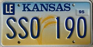 GENUINE-American-Kansas-Ears-of-Wheat-License-Licence-Number-Plate-Tag-SSO-190