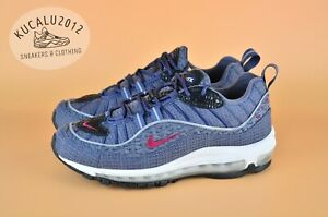 Details about Nike Air Max 98 QS Thunder Blue Team Red 924462 400 US6.5