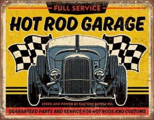 Hot Rod Garage - '32 Rod Vintage Retro Tin Metal Sign 13 x 16in