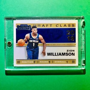 Zion-Williamson-ROOKIE-PANINI-CONTENDERS-DRAFT-CLASS-OF-2019-INSERT-RC-1-Mint