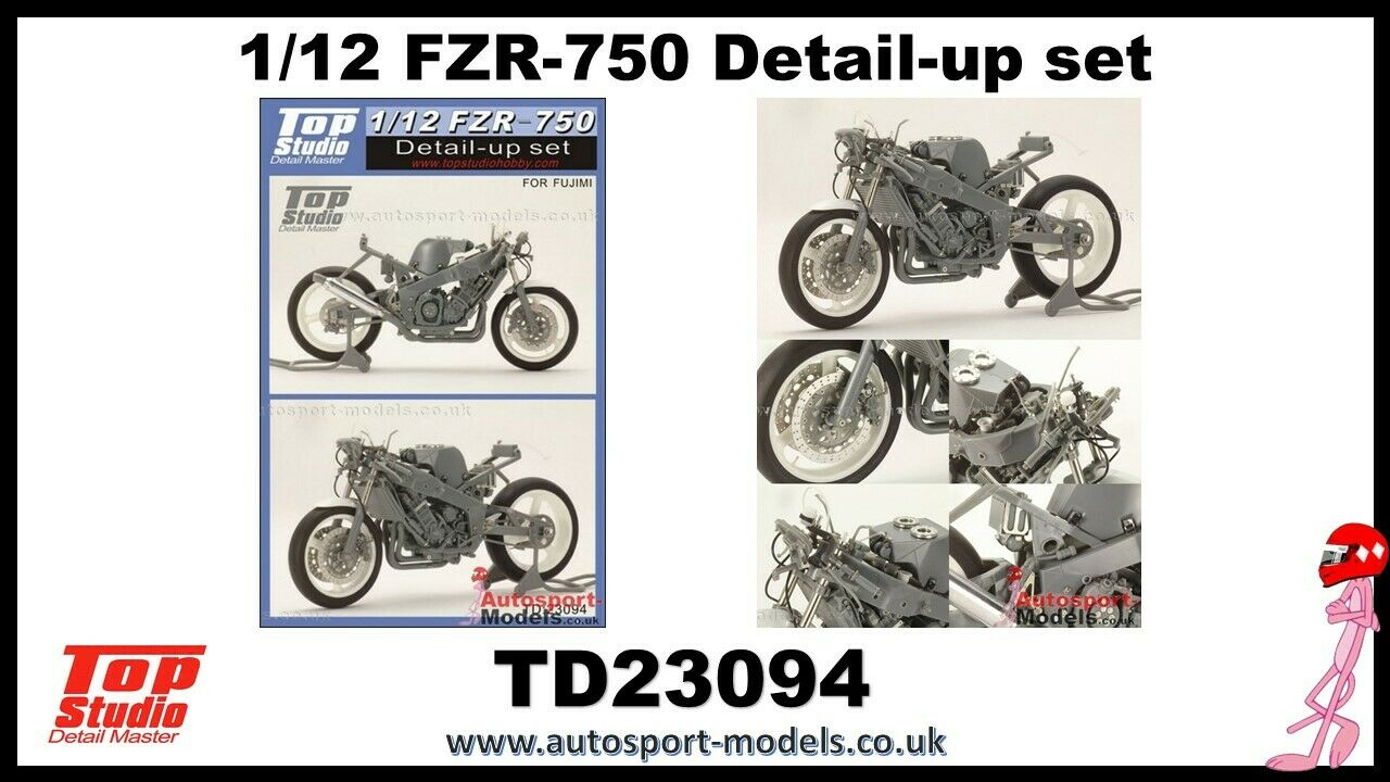 1 12 Yamaha FZR-750 detailing set by Top Studio to suit Fujimi kits.