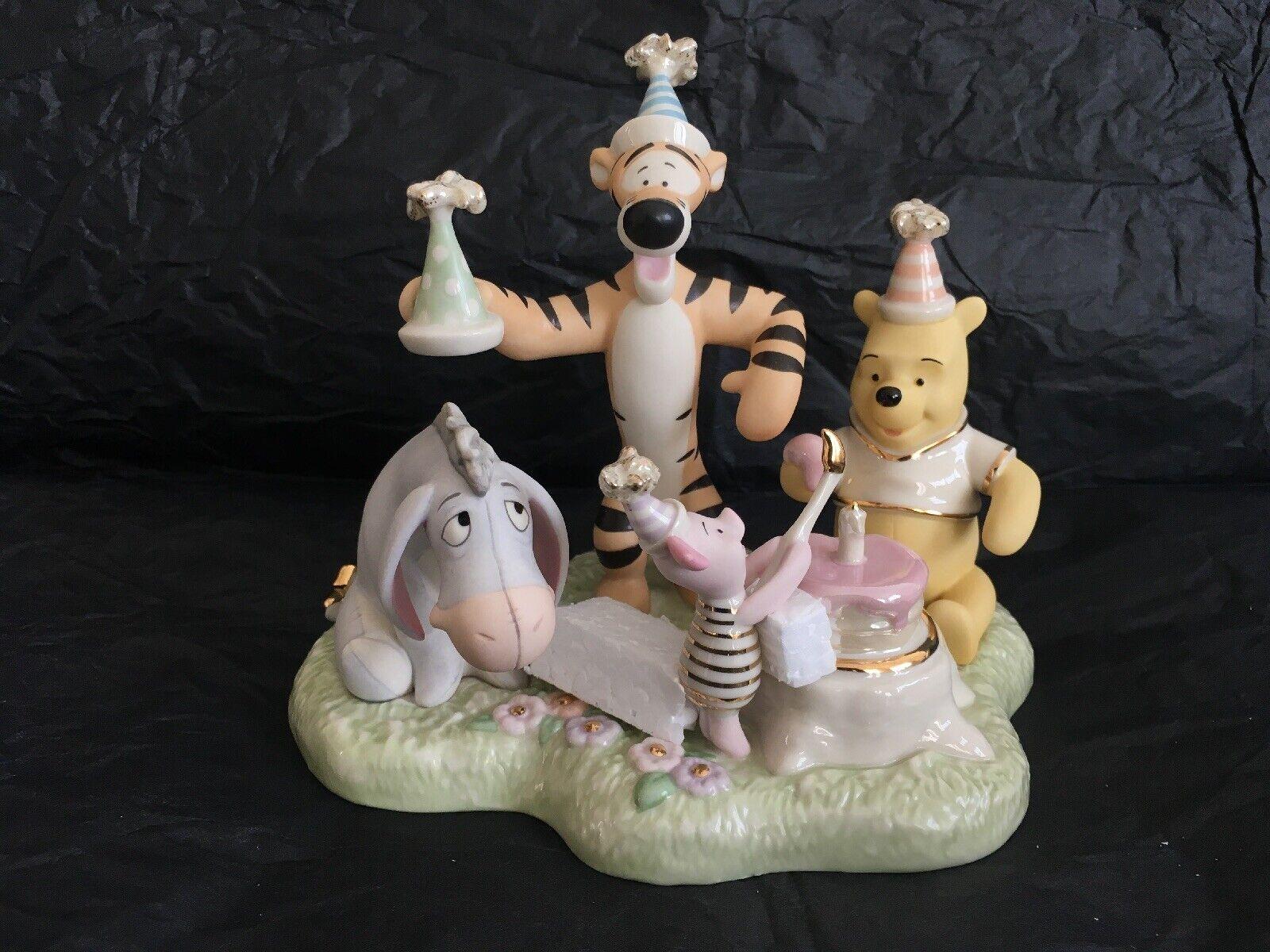 Lenox Pooh's très spécial anniversaire, Boxed, hautement Collectible