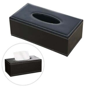 Durable Home Car Rectangle PU Leather Tissue Box Paper Holder Case Cover Napkin 5color,White