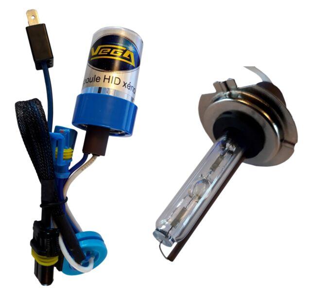 Ampoule HID xénon Vega® H7 55W 6000K embase métallique haut de gamme