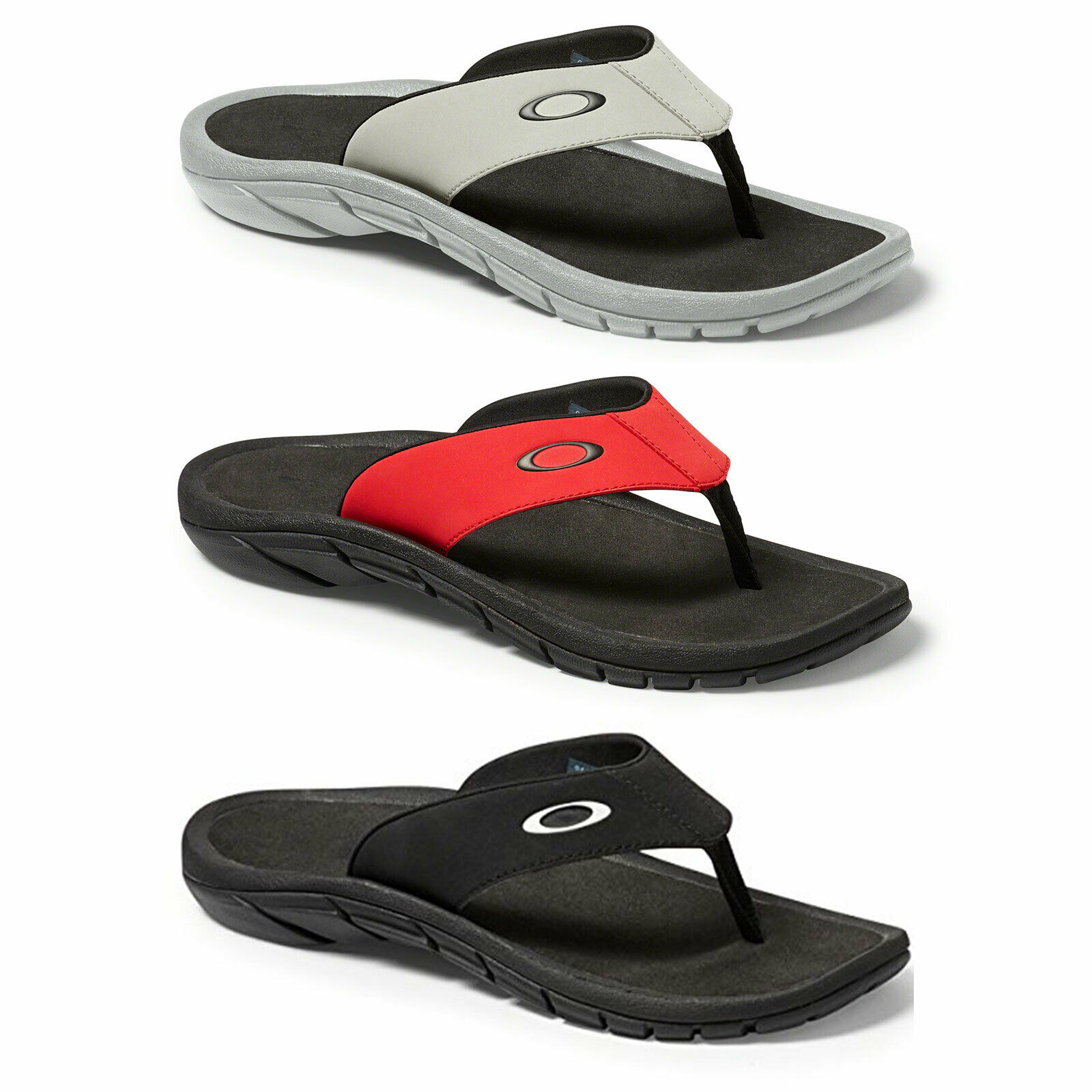7203e9db431 Oakley Super Coil Black Flip Flops Thong Sandals UK 5 EU 38.5 USA 6 for  sale online