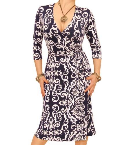 ivoirecol bleu et marine V robe Nouvelle imprimée en ZukPXi