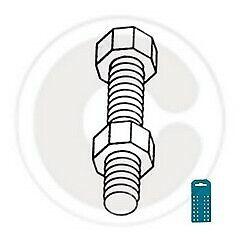cf 30 pz di bulloni acciaio zincato per scaffali scaffalatura Ø 8x25 mm con dado