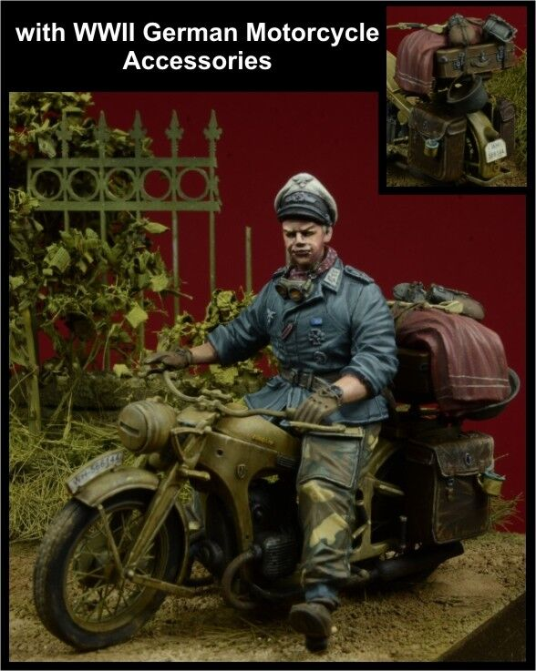 D-Day, 35082,1 35,'Herman Goering' Division Officer Motorcycle Rider+Accessories