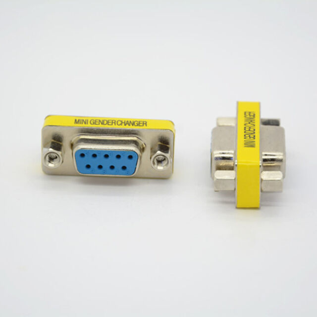 Serial RS-232 DB9 9 Pin F/F Female to Female Gender Changer Coupler Adapter 2Pcs