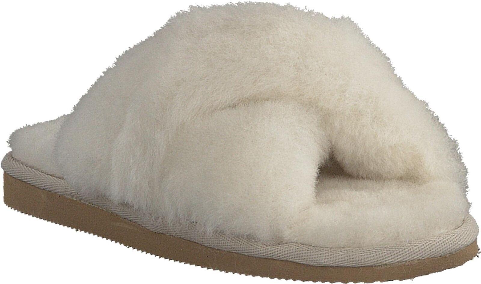 Shepherd Lovisa Donna calde comode pelle di pecora Slip On Mule Pantofole Crème