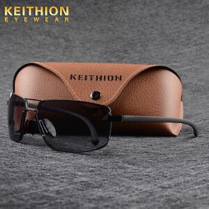 TR90-Frame-New-Men-039-s-Sunglasses-Polarized-Retro-Driving-Fashion-Rimless-Eyewear