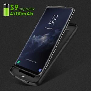 huge selection of 7abab 60f24 Details about SAMSUNG GALAXY S9 + PLUS External Battery WIRELESS CHARGING  Case Power Back Up