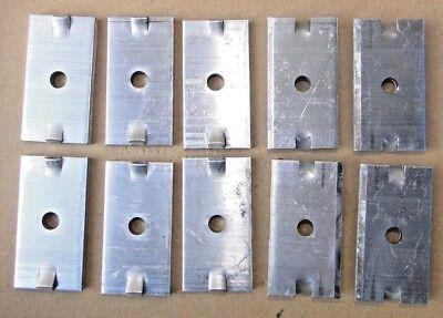 10 Stück Modul Mittelklemmen  für Photovoltaik Solar Module Paneele Alu Neu