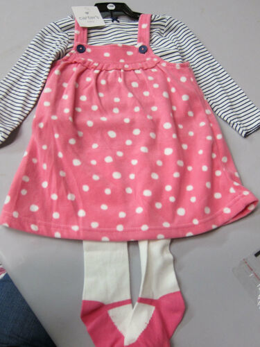 Carters Girls Baby//Toddler 3pc SetsVarious Styles /& Sizes-New Free Shipping