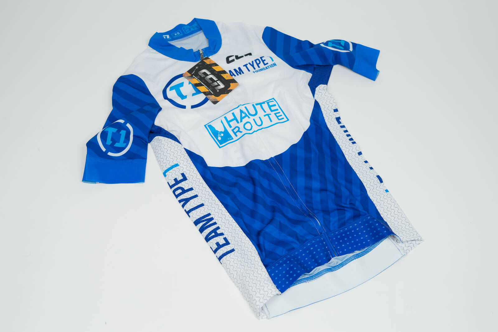 nuovo 2017 Men's CCN TT1 Foundation SS Cycling Speed Jersey, blu, Dimensione XS