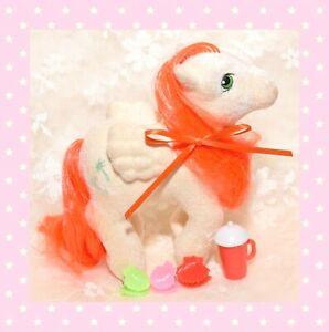 ❤️My Little Pony MLP G1 Vtg 1985 Paradise So Soft Pegasus Flocked Palm Trees❤️