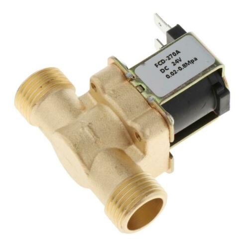 Electric Solenoid Valve DC12//24//220V Hot Water Solar Coil Valve for Water
