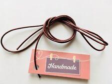 1 m Länge gewachste Baumwollbänder Farbe rosa 2mm Stärke