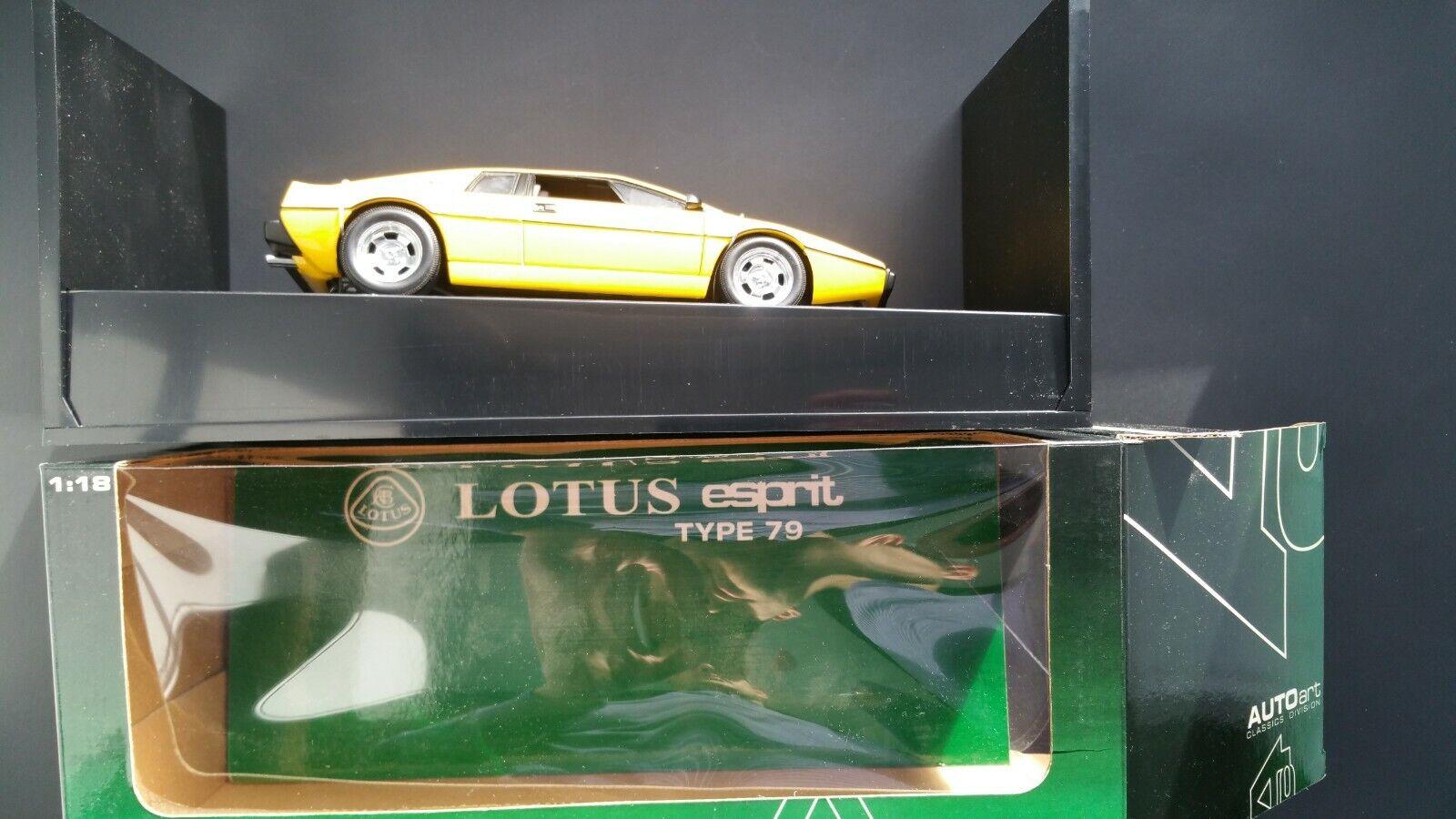 artículos novedosos Autoart Autoart Autoart 1 18 Lotus Esprit tipo 79 Amarillo en Caja Como Nuevo  compras en linea
