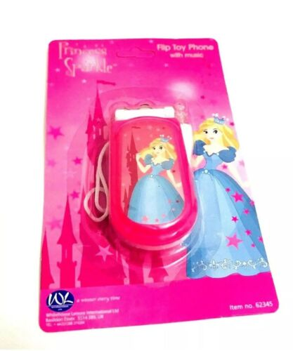 Princess Girls Sparkle Pink Mobile Phone Flip Toy Phone With Music Great For