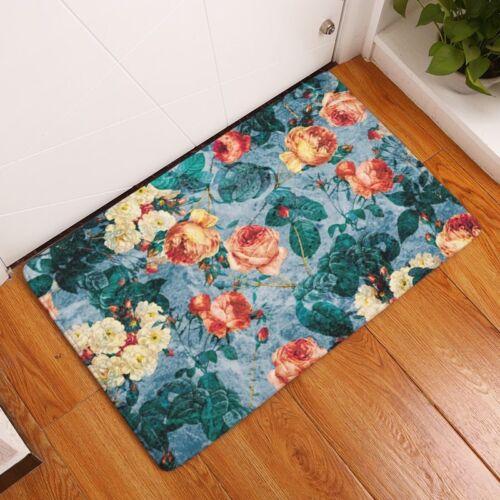 Creative Rugs Washable Beautiful Flower Carpet Mats Bedroom Non-Slip Floor Mats
