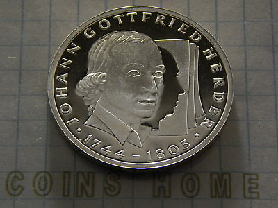 10 Mark 1994 A 50 Years after Proof orginal Folie Germany Deutsche Mark DM wings