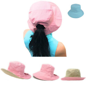 1 Dozen Ponytail Reversible Bucket Caps Hats Ramie Cotton Wholesale ... 72ae1586be8