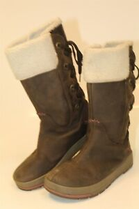 KEEN-53014-SBGN-Snowmass-Womens-8-5-39-Brown-Leather-Insulated-Winter-Snow-Boots