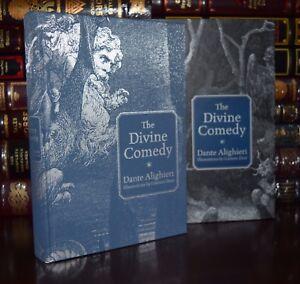 Książki antykwaryczne Divine Comedy by Dante Alighieri Illustrated New Leather Bound Deluxe