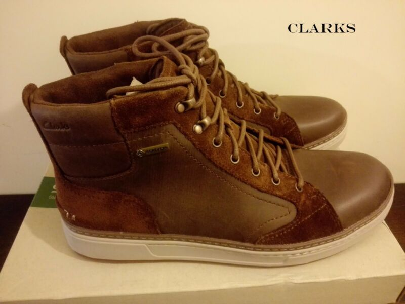 Clarks Mens**lorsen Hi Gtx Brown Nubuck **waterproof Boots Uk 9.5 Rrp £110