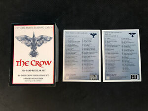 1994-KITCHEN-SINK-PRESS-THE-CROW-OFFICIAL-MOVIE-COMPLETE-100-CARD-SET