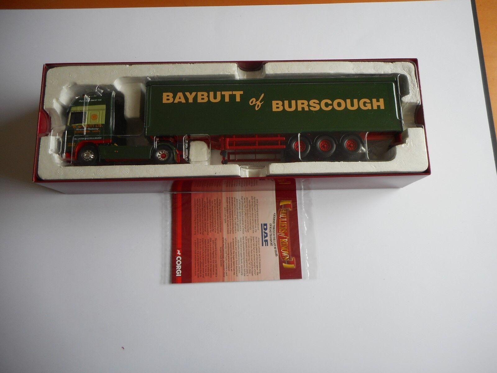 Corgi CC14101 DAF 105 Box Trailer  Hauliers of Renown-W Baybutt Ltd  Ltd Ed